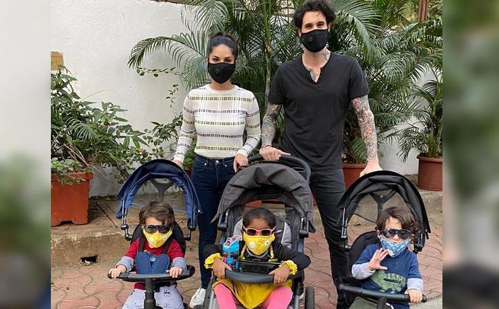 Coronavirus Pandemic: Sunny Leone Expresses Her Sadness As She Trains Her Children To Wear COVID 19 Preventive Masks