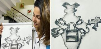 "Hina Khan On Sketching India In Lock & Chain: ""This Picture Will Communicate More Than A Thousand..."""