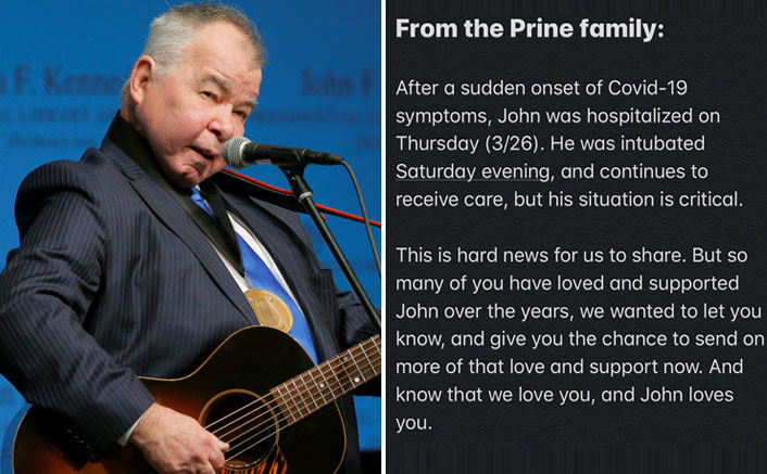 Singer John Prine In The Critical Stage Of Coronavirus, Members Of Music Community Pour Wishes