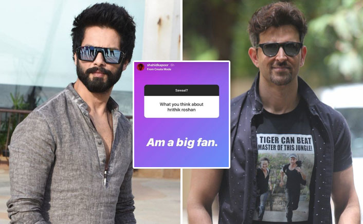 Shahid Kapoor Is A BIG Fan Of Hrithik Roshan & Here's How He Revealed It