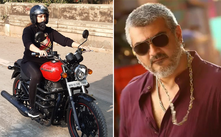 Huma Qureshi Takes Bike Riding Lessons For Thala Ajith's Valimai?