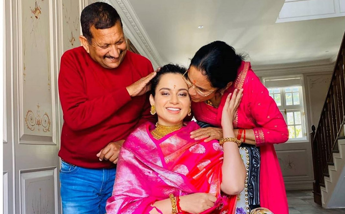 Kangana Ranaut Brings In 33rd Birthday With Family While On Quarantine