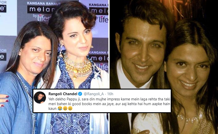 "Kangana Ranaut's Sister Rangoli Chandel Threatens Troll Supporting Hrithik Roshan: ""Will Rip You Apart…"""