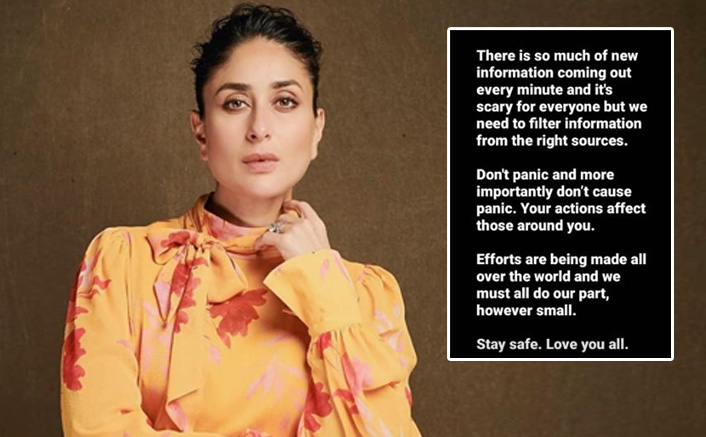 Kareena Kapoor Khan Is The Latest Bollywood Celebrity To Address The Coronavirus Situation