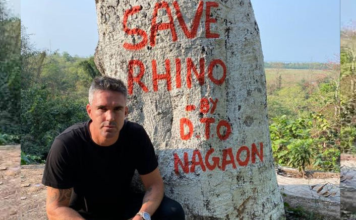 Legendary Cricketer Kevin Pietersen Is Shooting For National Geographic's 'Save This Rhino' Documentary In India