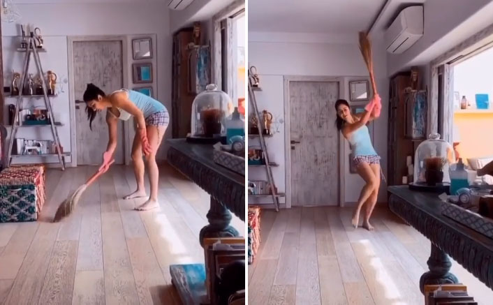 After Washing Utensils, Katrina Kaif Shows How To Have Fun While Brooming!
