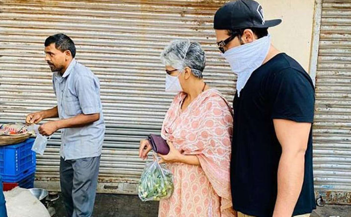 Amid Lockdown, Bigg Boss 13's Paras Chhabra Steps Out With His Mom To Buy Vegetables! See Pic