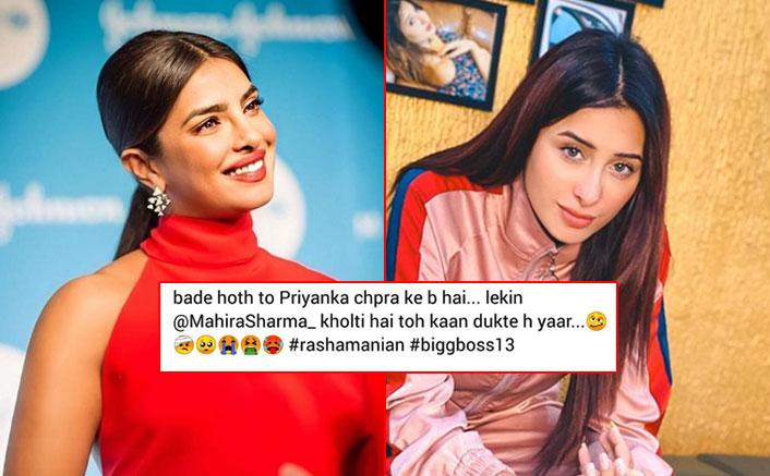"""Mahira Sharma Mocked For Her Lips Yet Again, Troll Says """"Bade Hoth To Priyanka Chopra Ke Bhi Hai Par…"""""""
