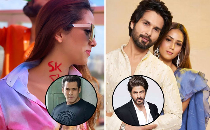 Mira Rajput Paints Shahid Kapoor's Initials On Her Neck, Fans Ask If She Means Shah Rukh Khan Or Salman Khan!