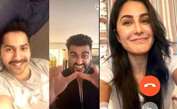 #MondayMotivation: Katrina Kaif, Varun Dhawan & Arjun Kapoor Show Us How To Make A 'Friendly' Use Of Self-Quarantine!