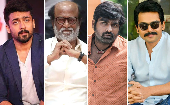 Rajini, Suriya, Karthi, Vijay Sethupathi donate for daily wage workers