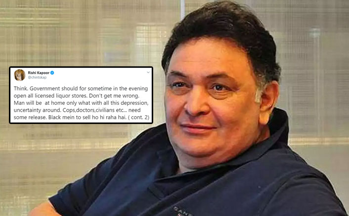 Rishi Kapoor Suggests Govt. To Open Liquor Shops Amid Lockdown, Trolls Say 'Distribute Your Stock'