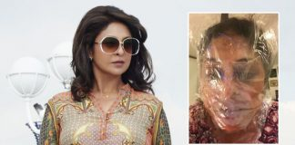 Shefali Shah wears plastic bag over face for COVID-19 awareness