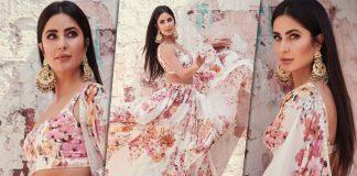 Sooryavanshi Actress Katrina Looks Regal In A Floral Sabyasachi Lehenga & We Can't Take Our Eyes Off Her