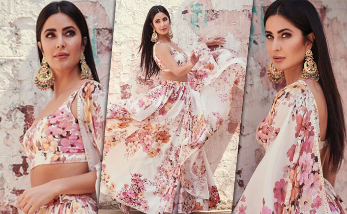Sooryavanshi Actress Katrina Looks Regal In A Floral Sabyasachi Lehenga & We Can't Take Our Eyes Off Her