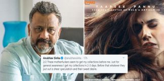 "Thappad Box Office Reports Leave Anubhav Sinha Angry, ""My Money. My Movie. My Profit. My Loss. Who The F**k Are You?"""