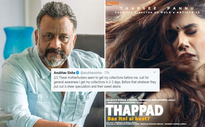 """Thappad Box Office Reports Leave Anubhav Sinha Angry, """"My Money. My Movie. My Profit. My Loss. Who The F**k Are You?"""""""