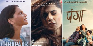 Thappad Box Office: 14.66 Crores VS First Weekend Total Of Panga & Chhapaak, Which One Is Leading?
