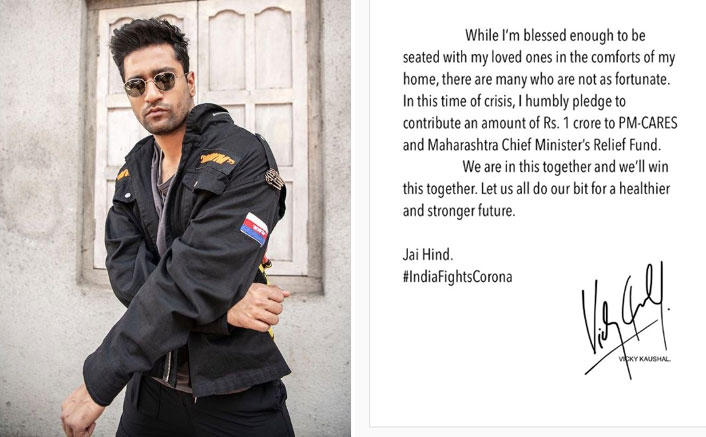 Vicky Kaushal Shows His Lion Heart As He Joins India's Fight Against Coronavirus, Donates Big Amount