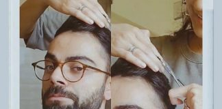 *While social distancing, Anushka gives Virat a new look!*