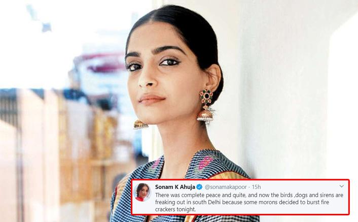 #9Bjae9Minute: Sonam Kapoor Slams The People Who Lit Crackers Gets Trolled Later
