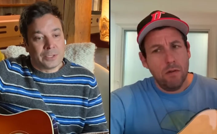 Murder Mystery Actor Adam Sandler & Jimmy Fallon Singing 'Don't Touch Grandma' Is The Best Thing You'll See On The Internet Today!