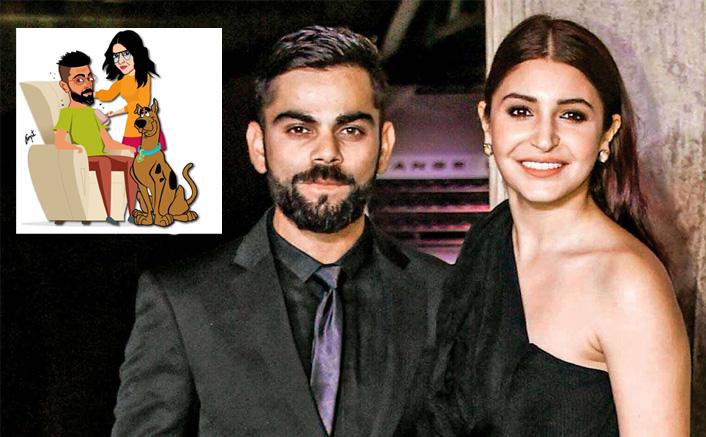 After Deepika-Ranveer, Anushka Sharma & Vira Kohli Have Found Their Cartoon Calling & We Can't Stop Grinning