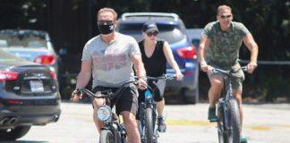 Arnold Schwarzenegger Enjoys Bike Ride With Girlfriend Heather Milligan
