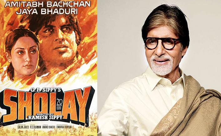 Big B at 'Sholay' premiere: 'Ma, Babuji, Jaya and a bow tied moi'