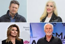 Blake Shelton, Gwen Stefani, Shania Twain pay tribute to Kenny Rogers