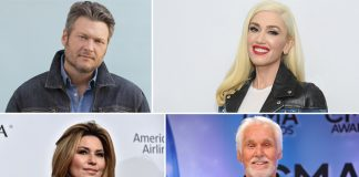 Blake Shelton, Gwen Stefani, Shania Twain pay tribute to Kenny Rogers
