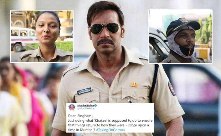 Amid Lockdown, Singham Ajay Devgn Gets A Witty Reply From Mumbai Police For His Appreciation Tweet