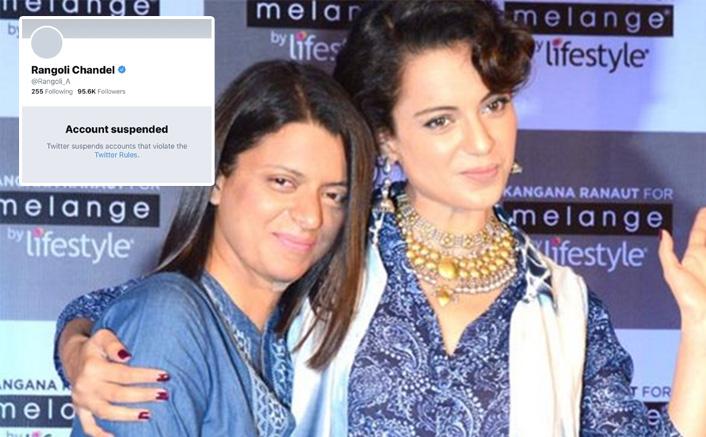 BREAKING: Kangana Ranaut's Sister Rangoli's Account Suspended Over Hate Speech