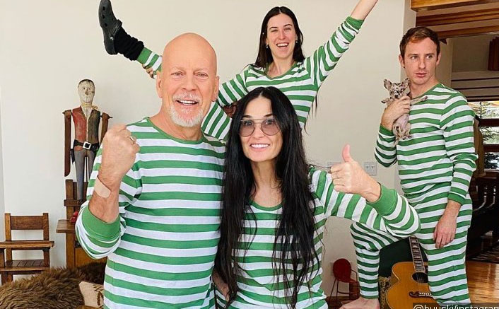 Bruce Willis & Demi Moore's Reunion Pictures With Family While Self-Isolating Are All Things Cute!