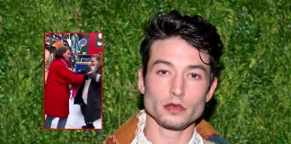 Ezra Miller appears to throttle, shove female fan in video