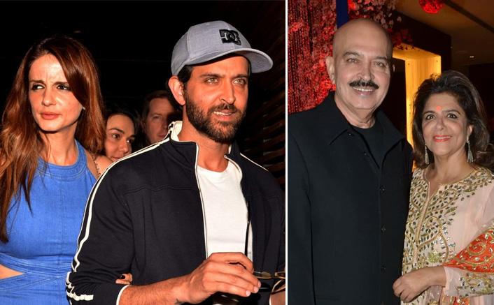 Hrithik Roshan Comes Together With Ex-Wife Sussanne Khan To Celebrate His Parents' Wedding Anniversary, WATCH