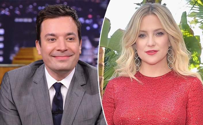 """Jimmy Fallon Meets His Old Crush Kate Hudson, Later Says """"If You Would Have Actually Made A Move, I Would Have Totally Gone There"""""""
