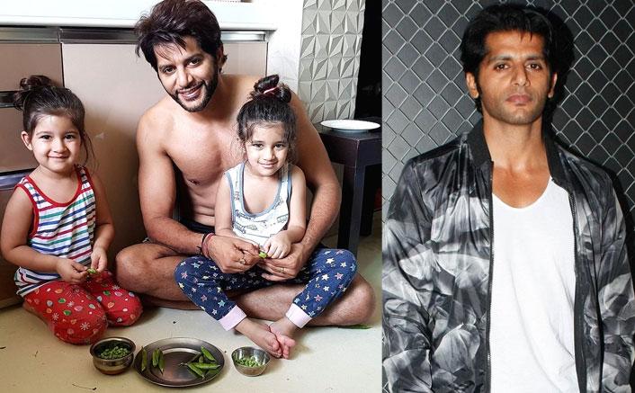 Karanvir Bohra Gives Salman Khan's Maine Pyaar Kiya Twist To His Latest Quarantine Picture With Daughters