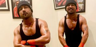 Lockdown diaries: Yo Yo Honey Singh works at a muscular toned look