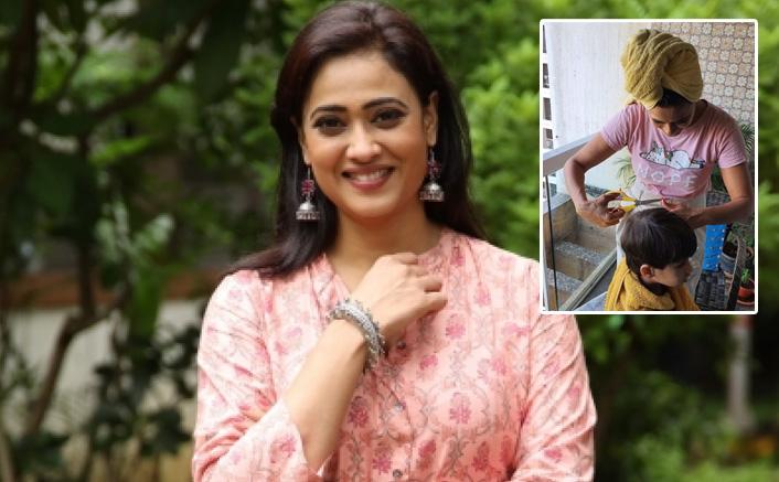 Mere Dadi Ki Dulhan Actress Shweta Tiwari Turns Barber For Son Reyansh; Check Out Pics