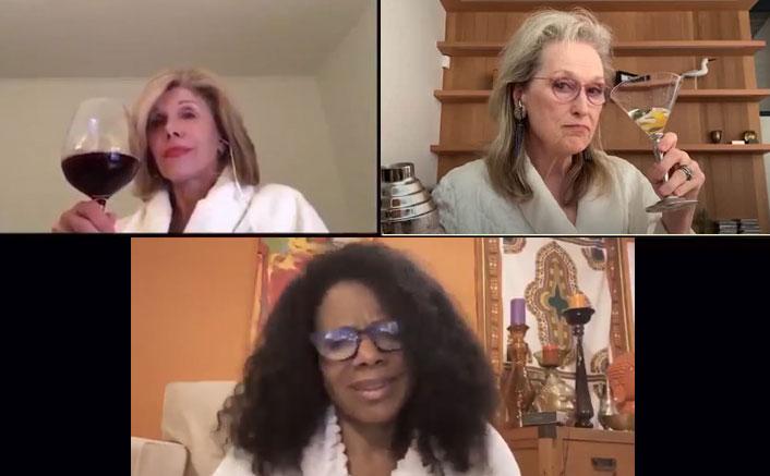 Meryl Streep, Audra McDonald & Christine Baranski Enjoy Drinks Wearing Bathrobes As They Perform A Tribute To Stephen Sondheim