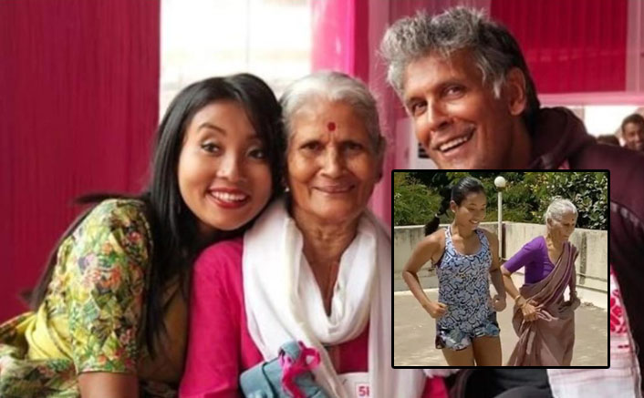 Milind Soman's 80-yr-old mom works out with his wife Ankita