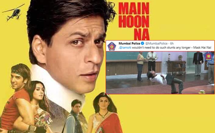 Mumbai Police Tweets THIS Scene From Shah Rukh Khan's Main Hoon Na & Captions It As 'Mask Hai Na'