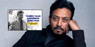 "Mumbai Police's Wonderful Tribute To Irrfan Khan: ""Tumko Yaad Rakhenge Guru Hum"""