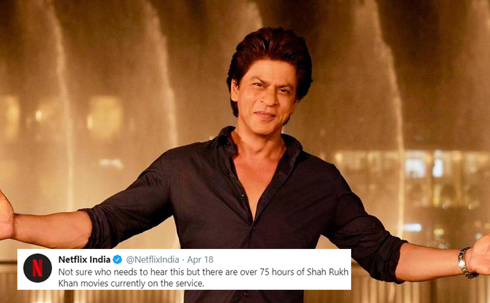 Netflix India REVEALS The Total Duration Of All Shah Rukh Khan Movies On The Platform, Twitterati Responds
