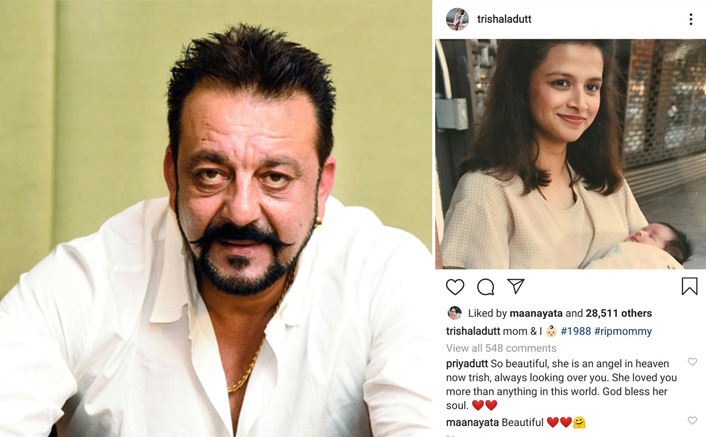Sanjay Dutt's Daughter Trishala Dutt Shares A Throwback Picture Of Mom Richa Sharma, Wife Maanayata's Comment Will Leave You In Awe
