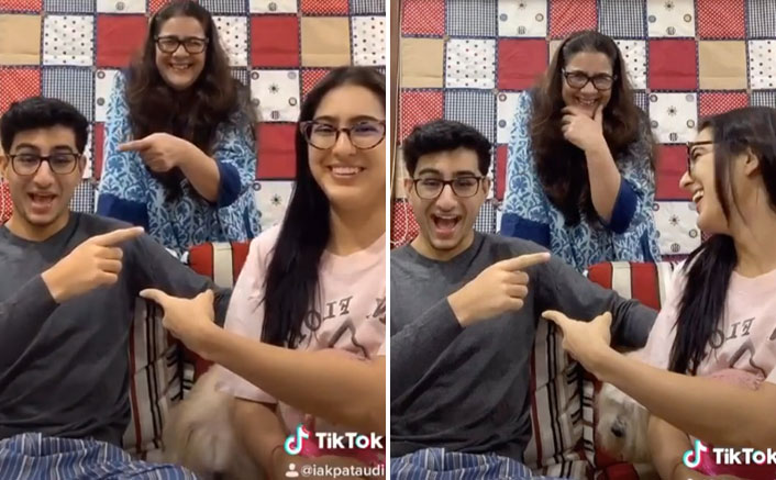 Sara Ali Khan, Ibrahim & Mom Amrita Singh Rock THIS TikTok Challenge TOGETHER, Watch!
