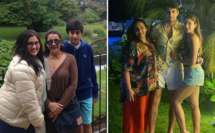 Sara Ali Khan's Before & After Pic With Her Mom Amrita Singh & Brother Ibrahim Ali Khan Will Give You All The Motivation You Need During Lockdown