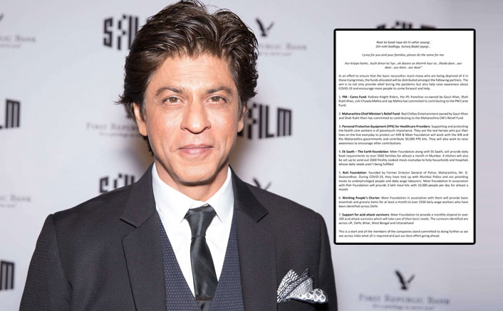 Shah Rukh Khan lauds the Government's COVID-19 efforts & announces key initiatives to extend his support