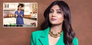 Shilpa Shetty teaches son how to pluck brinjals